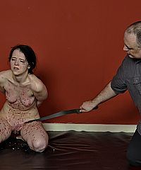 Teen Breast Whipping Torture