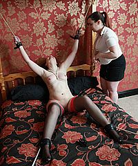 Lesbian Breast Whipping